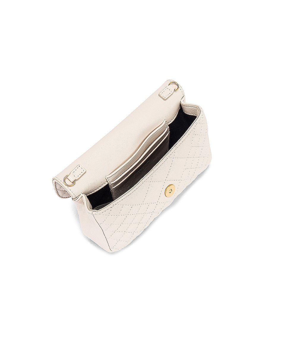 Image 5 of VERSACE Leather Tribute Mini Shoulder Bag in Off White & Gold
