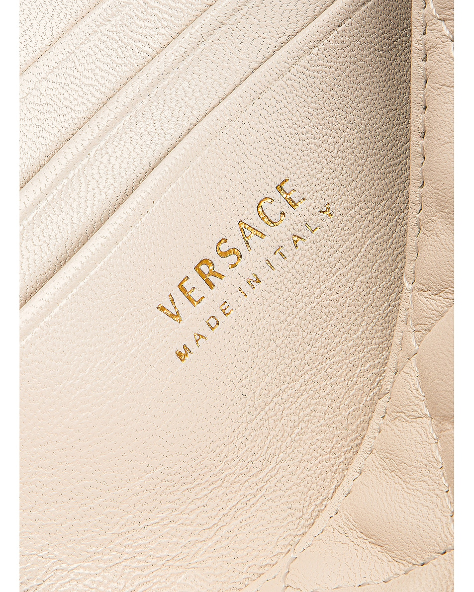 Image 7 of VERSACE Leather Tribute Mini Shoulder Bag in Off White & Gold