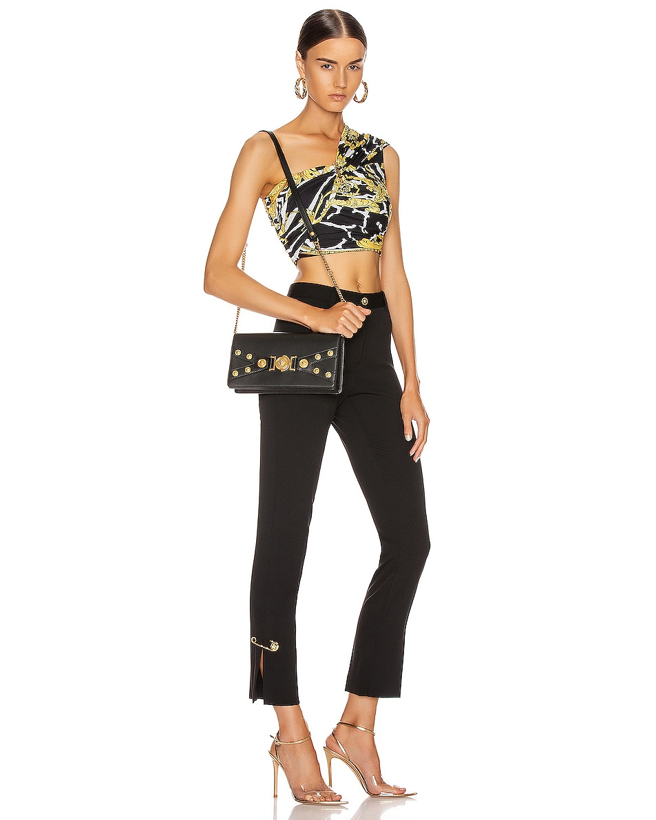 Image 2 of VERSACE Tribute Shoulder Bag in Black & Gold
