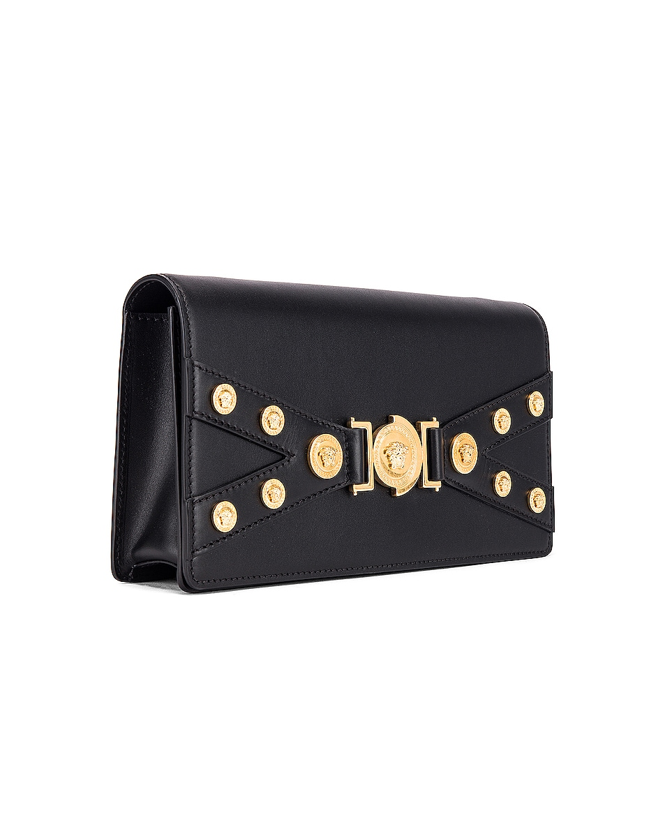 Image 4 of VERSACE Tribute Shoulder Bag in Black & Gold