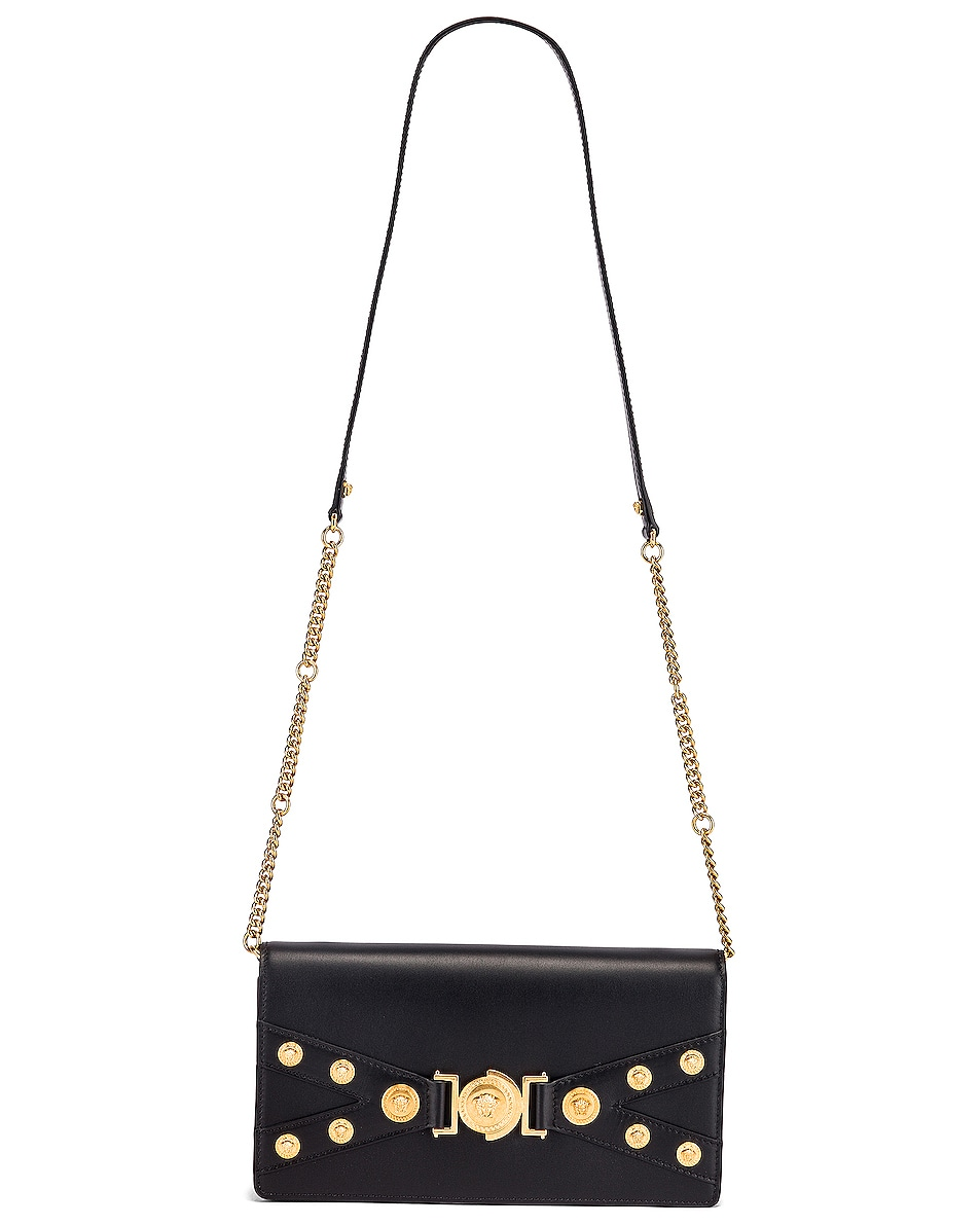 Image 6 of VERSACE Tribute Shoulder Bag in Black & Gold