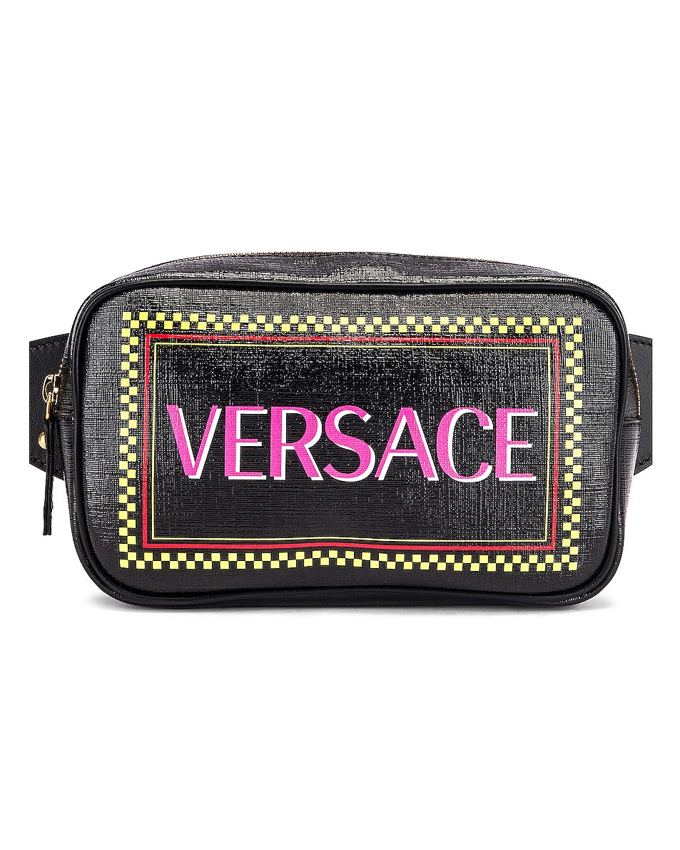 Image 1 of VERSACE Vintage Logo Bum Bag in Black Multicolor