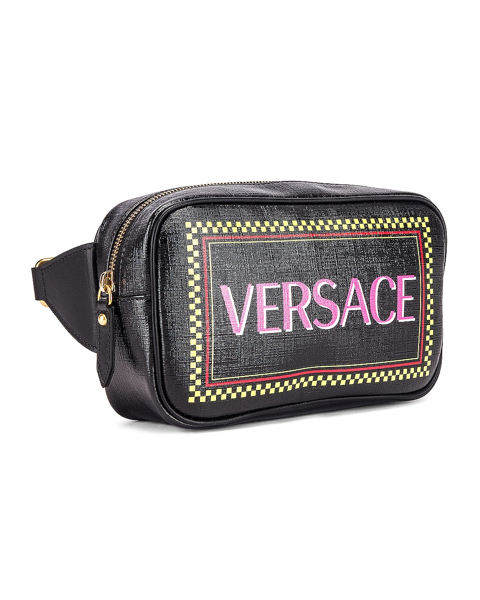 Image 4 of VERSACE Vintage Logo Bum Bag in Black Multicolor