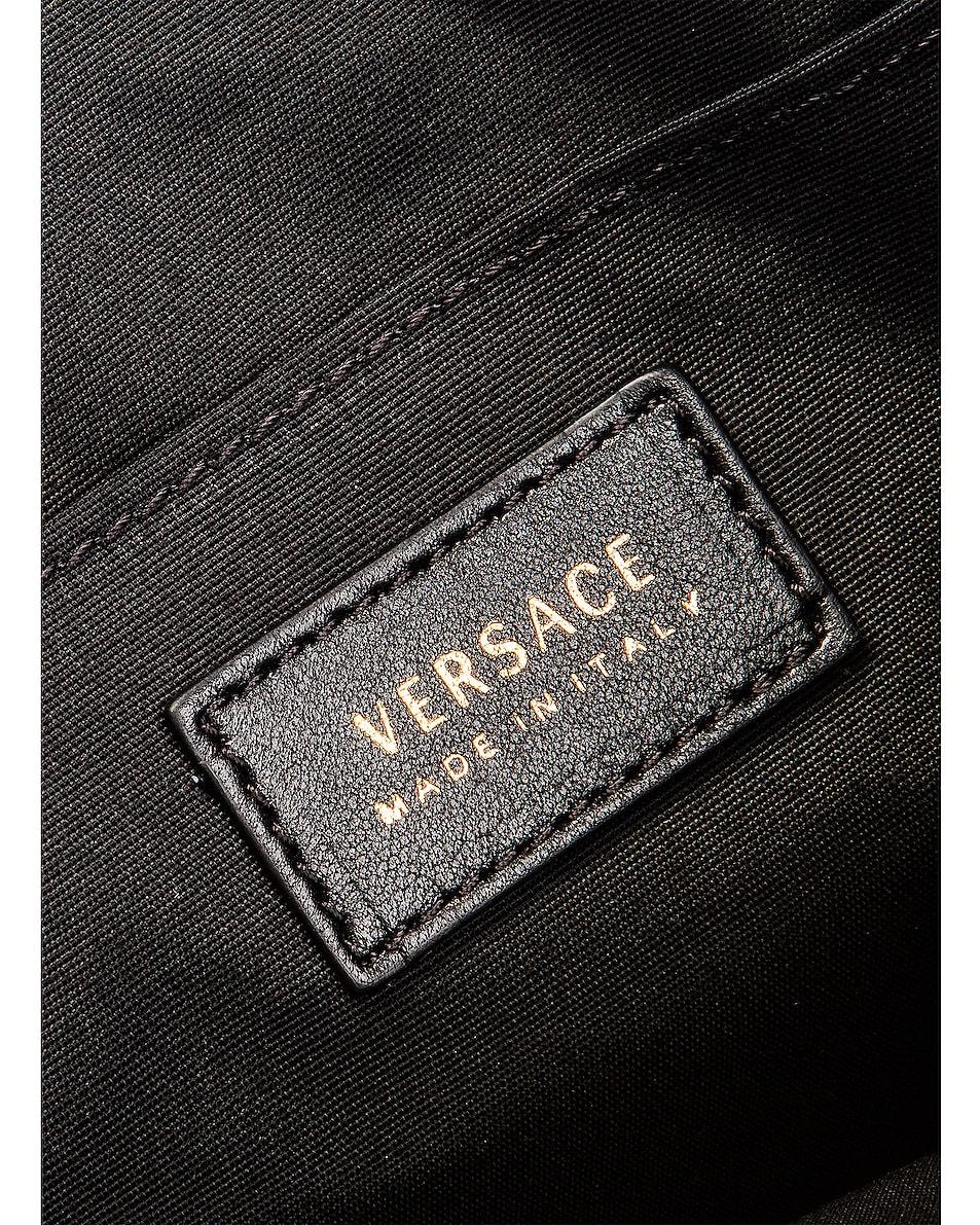 Image 7 of VERSACE Quilted Icon Pouch Bag in Black & Yellow