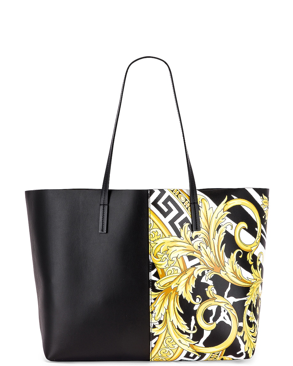 Image 3 of VERSACE Tribute Tote in Black & Gold