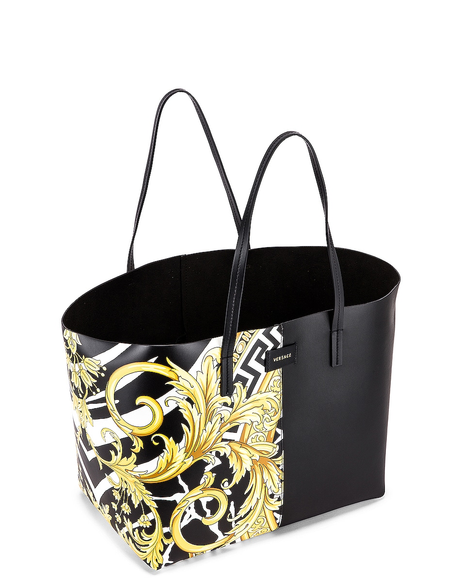 Image 4 of VERSACE Tribute Tote in Black & Gold