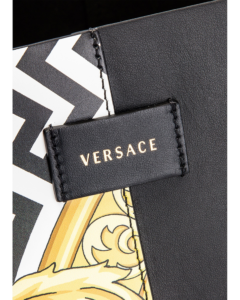 Image 7 of VERSACE Tribute Tote in Black & Gold