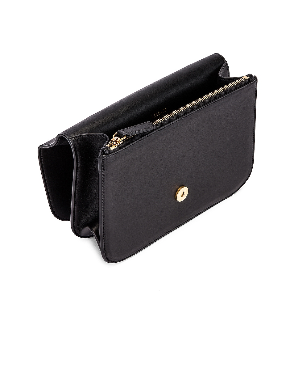 Image 4 of VERSACE Leather Tribute Crossbody Bag in Black & Gold