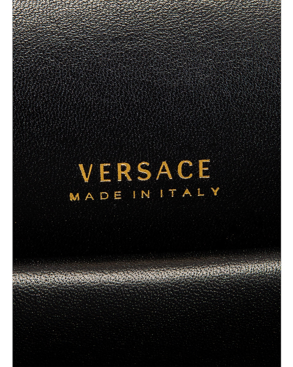 Image 6 of VERSACE Leather Tribute Crossbody Bag in Black & Gold
