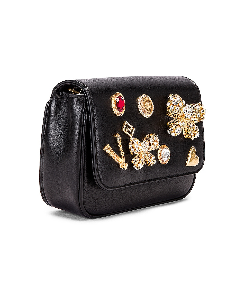 Image 3 of VERSACE Embellished Crossbody Bag in Black