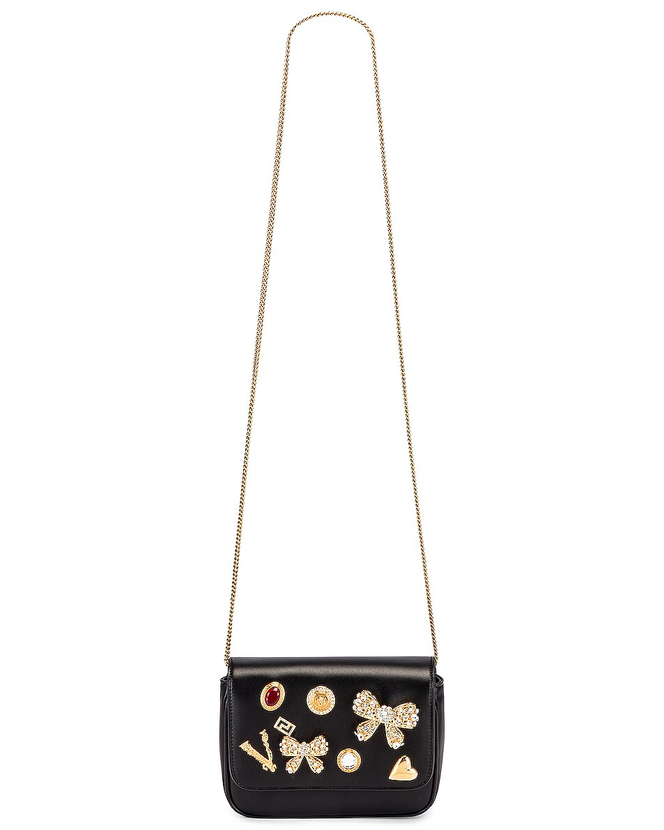Image 5 of VERSACE Embellished Crossbody Bag in Black