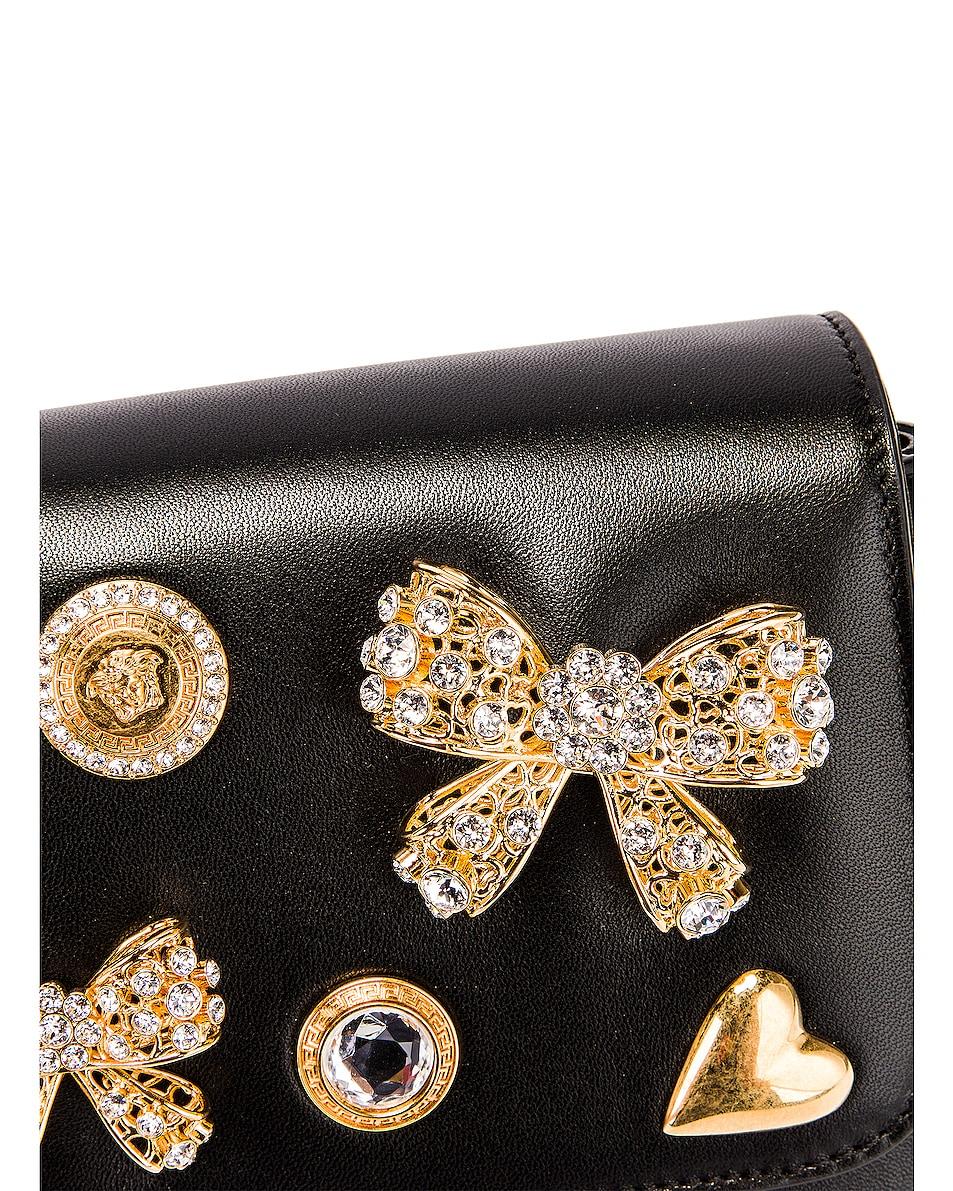 Image 7 of VERSACE Embellished Crossbody Bag in Black