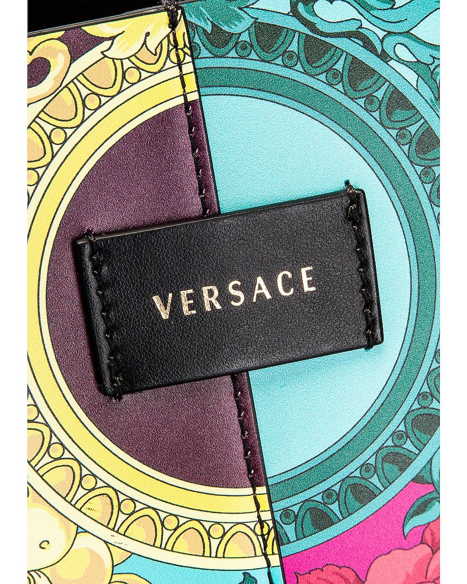Image 6 of VERSACE Leather Tribute Tote in Black & Multicolor