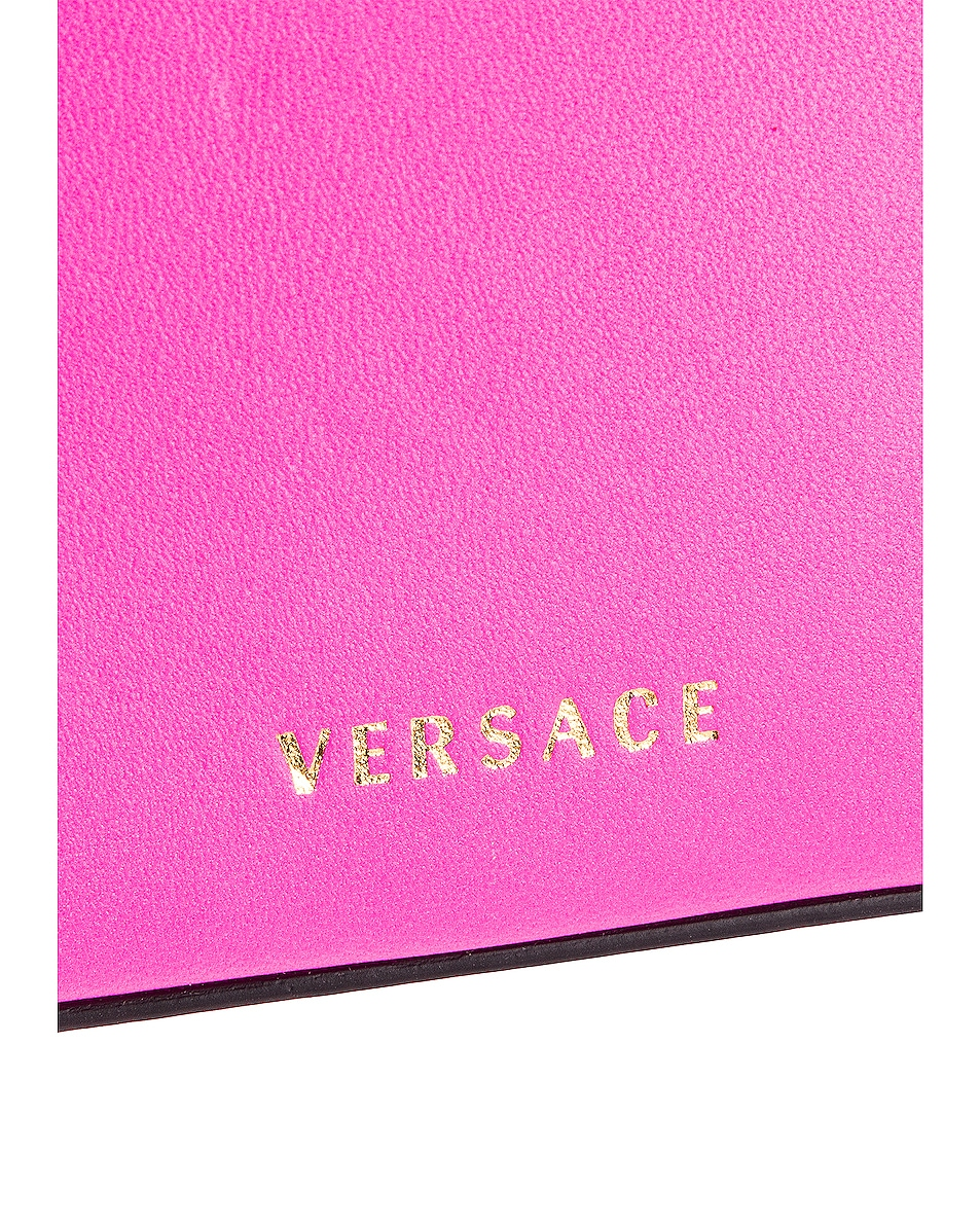 Image 7 of VERSACE Quilted Leather Tribute Rectangle Crossbody Bag in Fuchsia & Gold