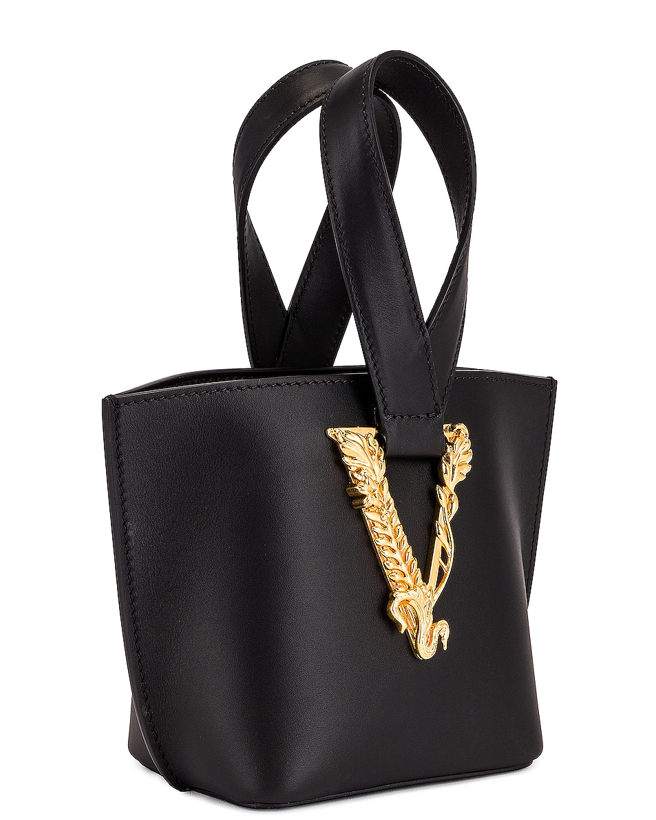 Image 4 of VERSACE Tribute Leather Bag in Black & Gold