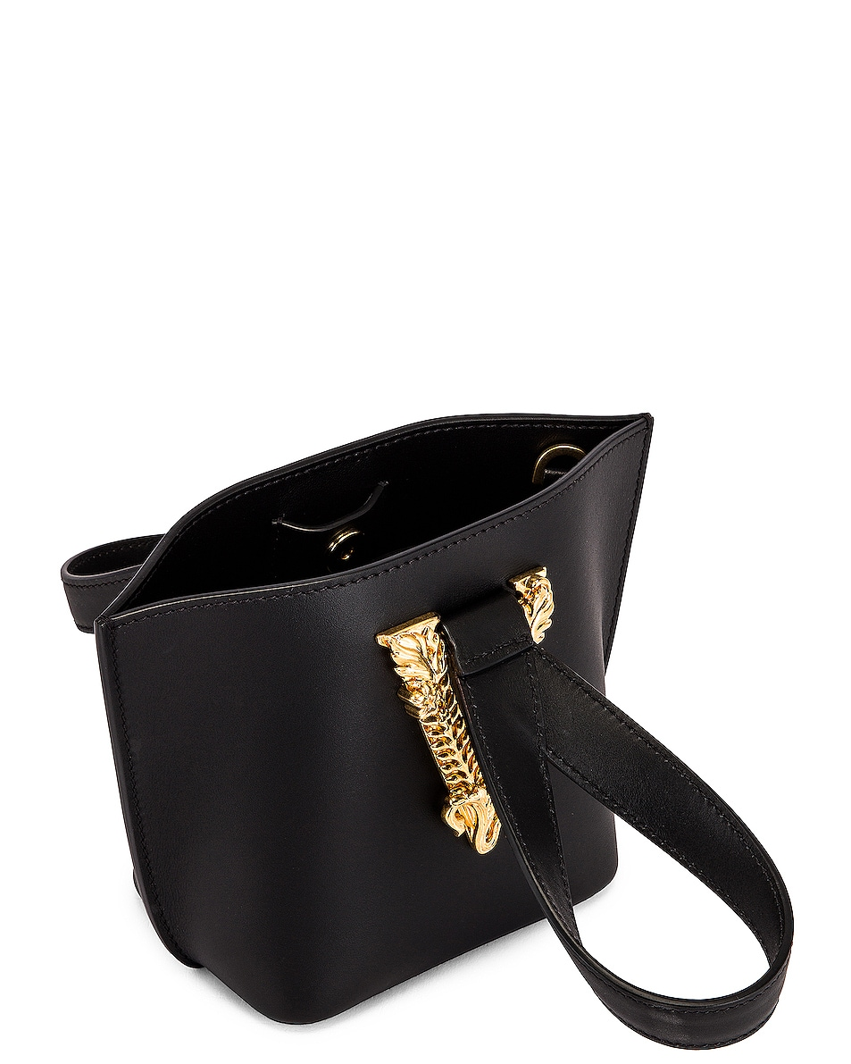 Image 5 of VERSACE Tribute Leather Bag in Black & Gold