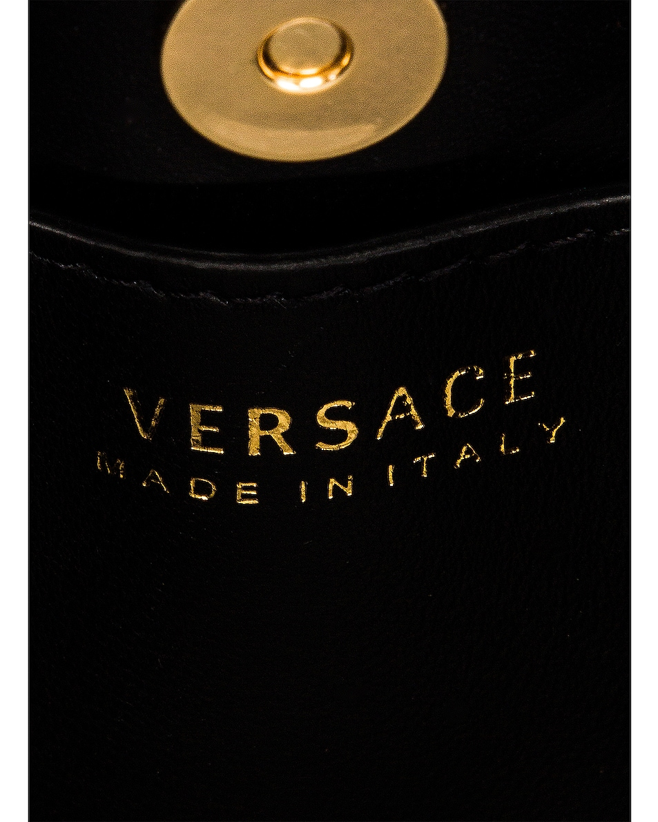 Image 7 of VERSACE Tribute Leather Bag in Black & Gold
