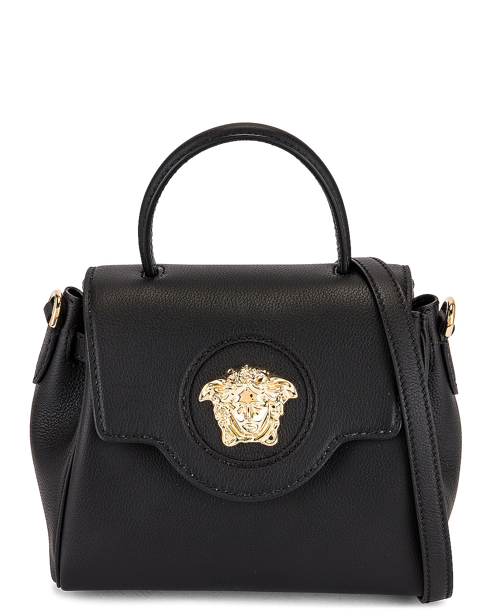 Image 1 of VERSACE Medusa Top Handle Bag in Nero & Oro