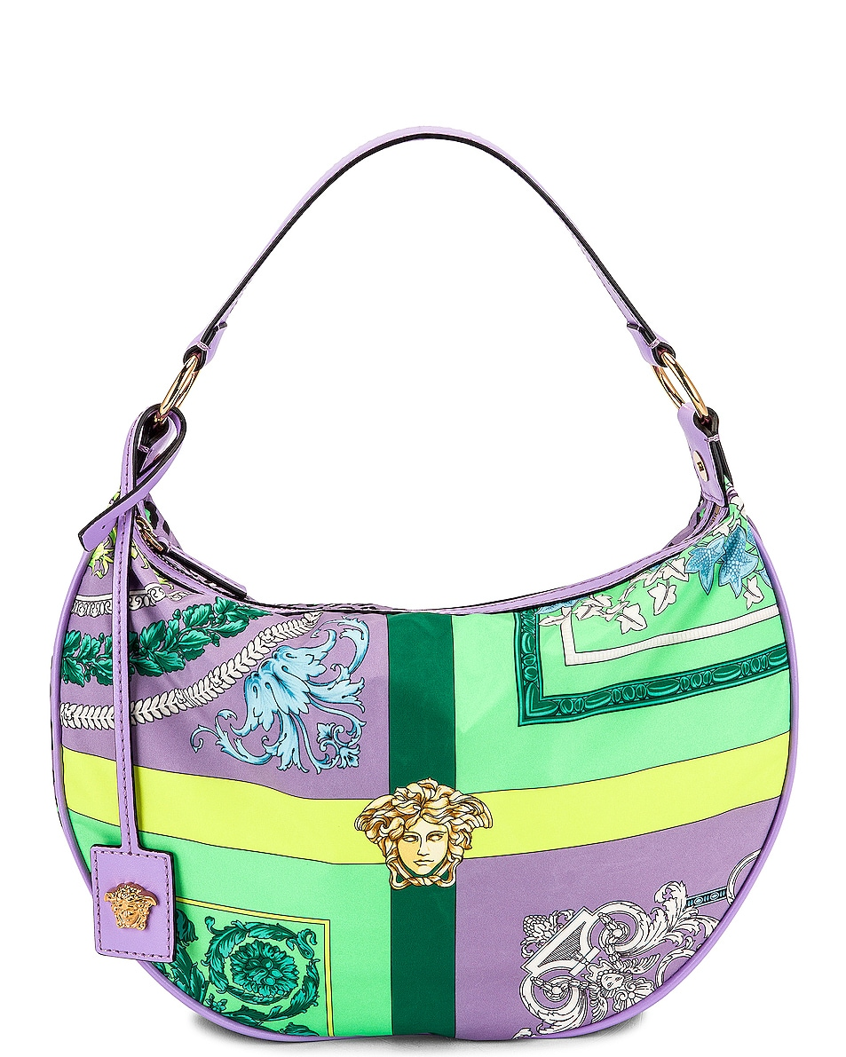 Image 1 of VERSACE Hobo Shoulder Bag in Jacaranda & Multicolor