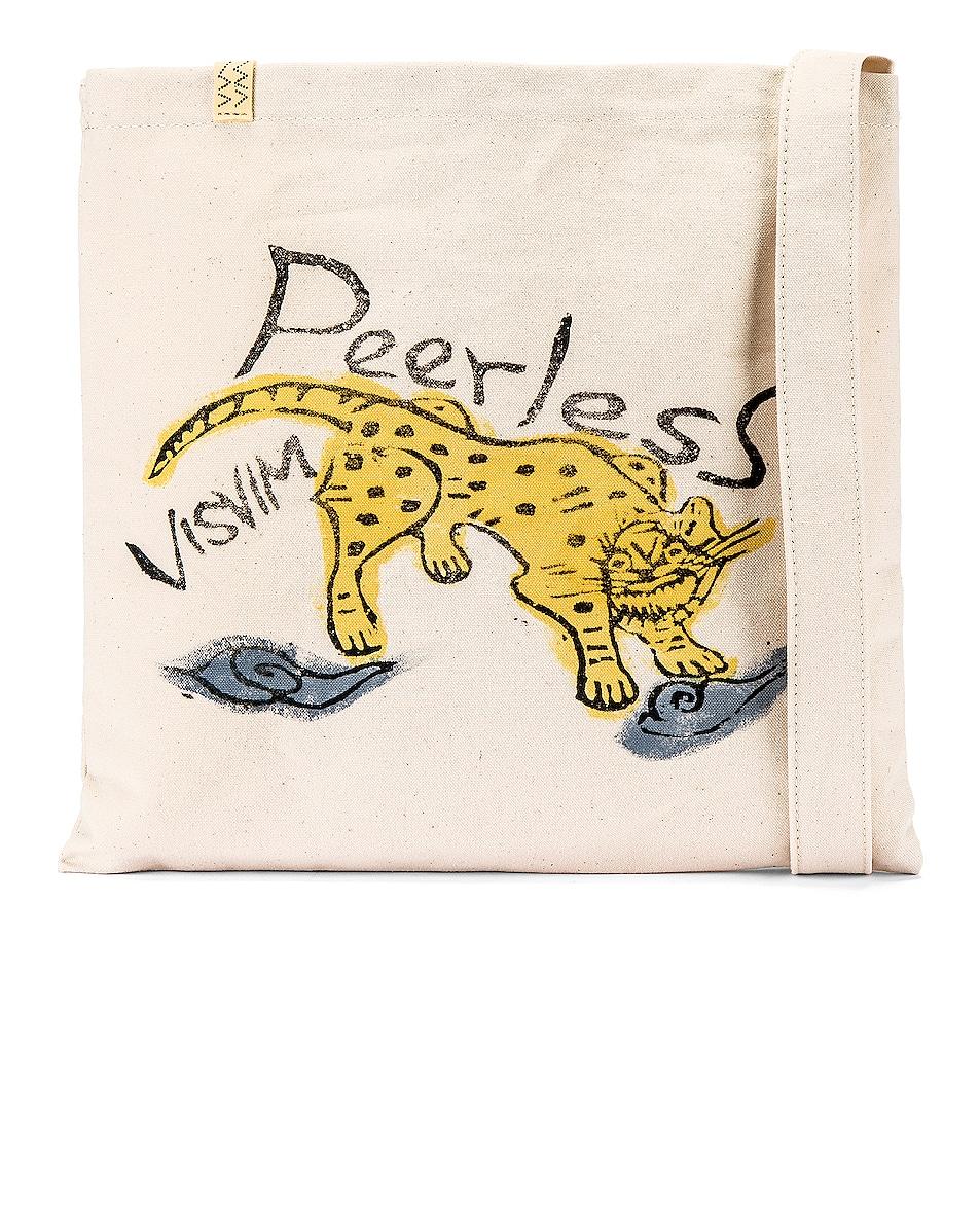 Image 1 of Visvim Peerless Tiger Canvas Bag in Ivory