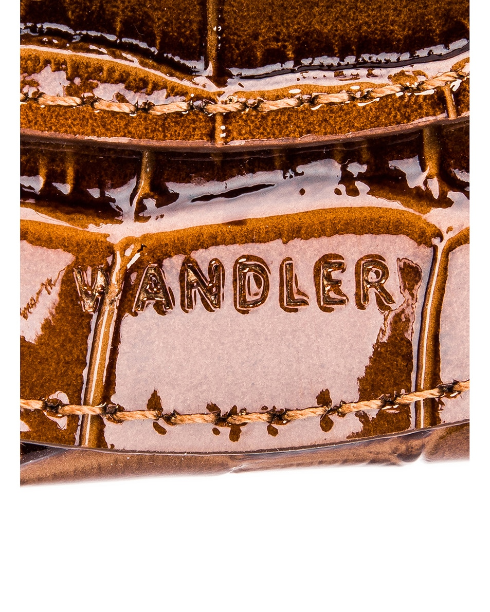 Image 7 of Wandler Mini Luna Leather Bag in Croco Toffee