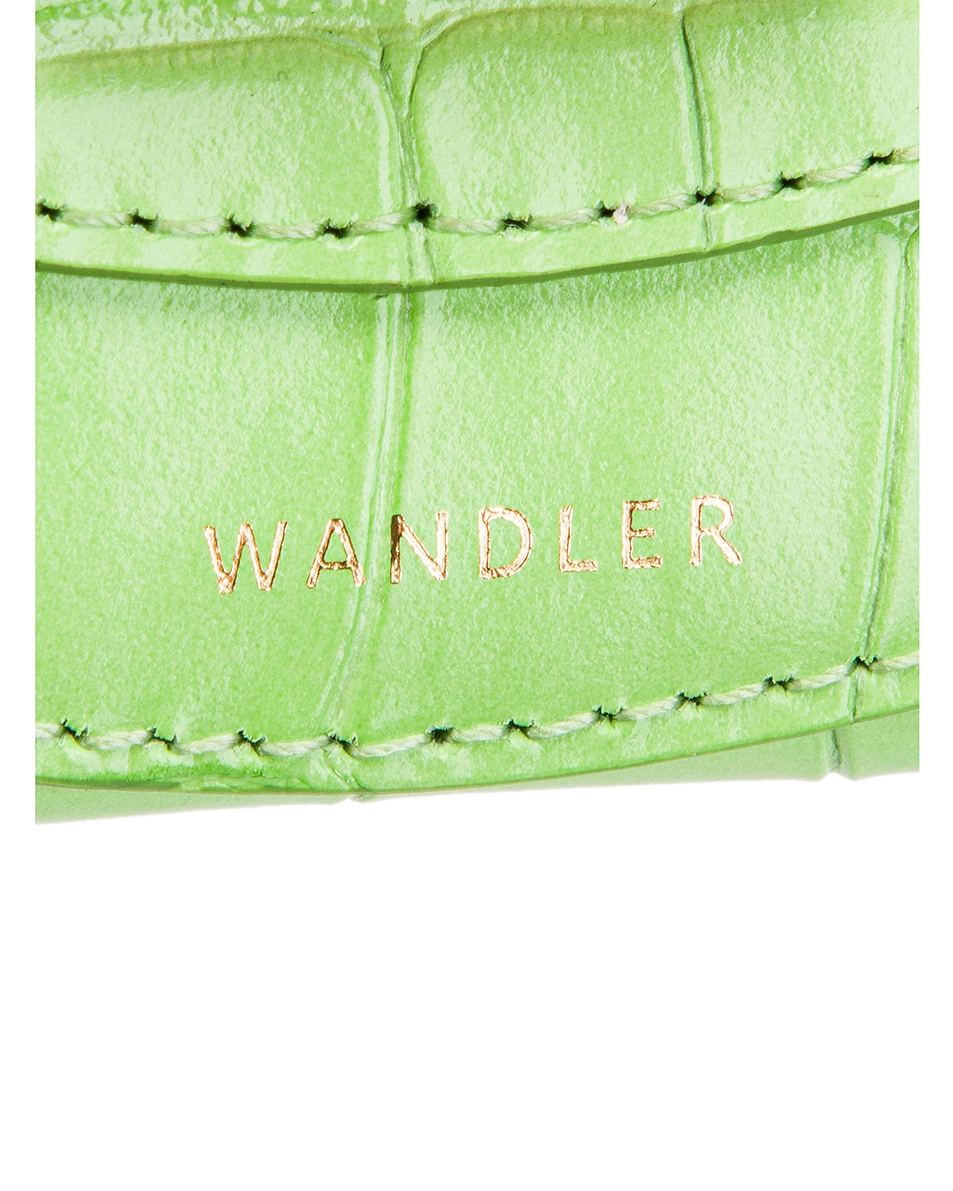 Image 7 of Wandler Mini Luna Leather Bag in Croco Toxic