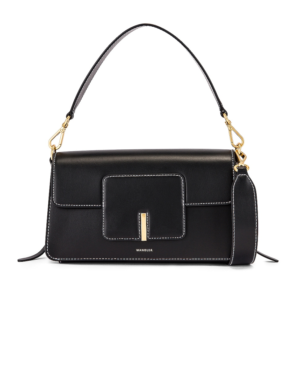 Image 1 of Wandler Georgia Leather Bag in Black