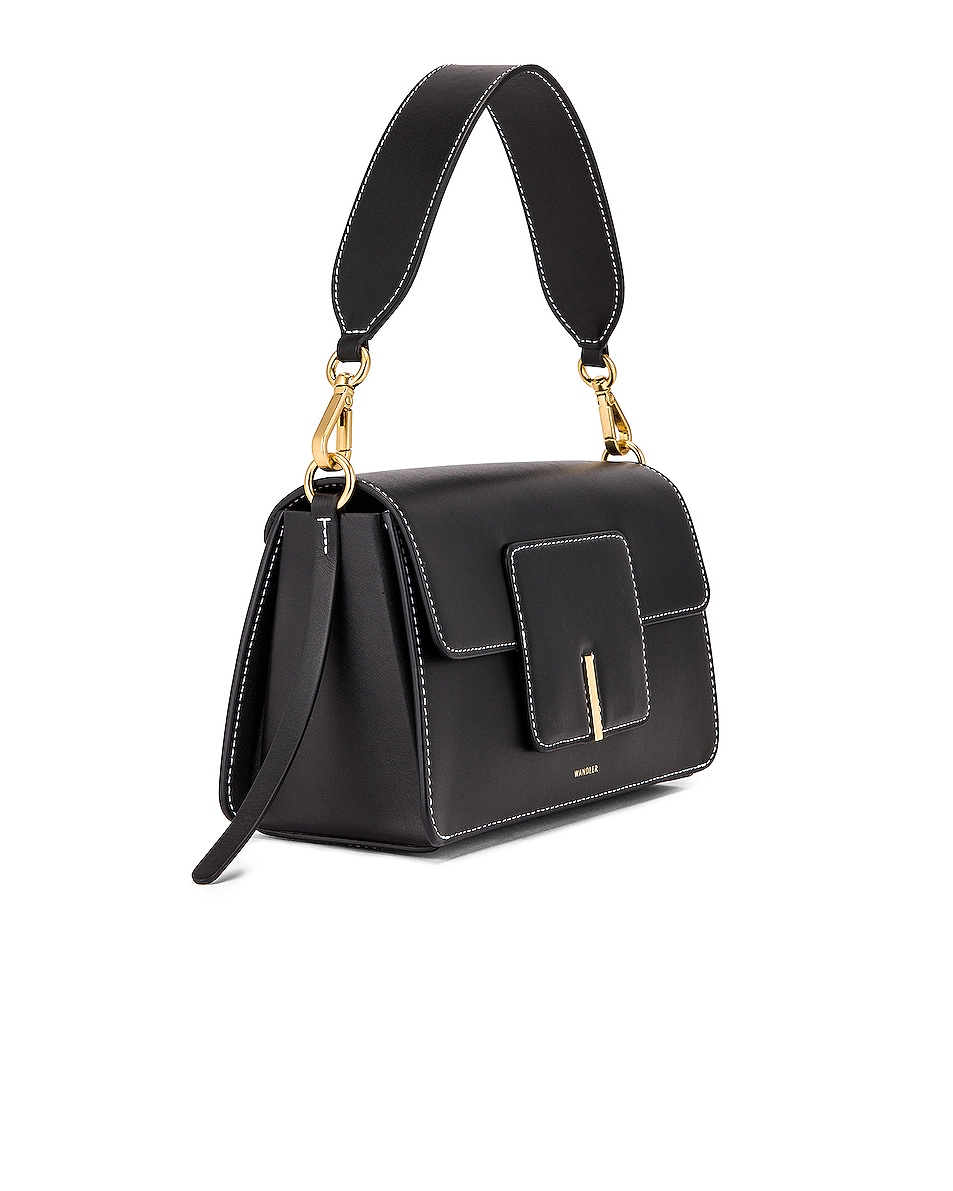 Image 4 of Wandler Georgia Leather Bag in Black