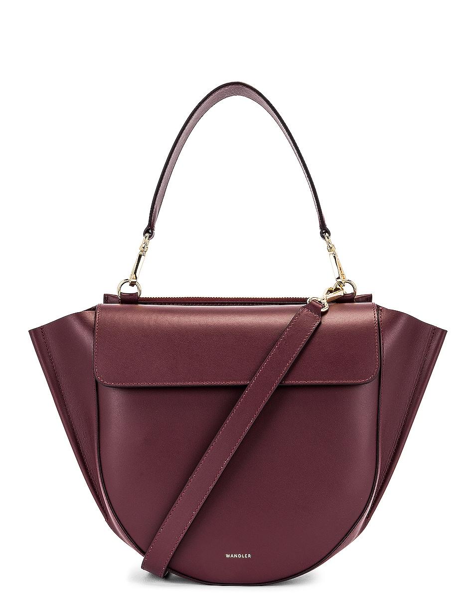 Image 1 of Wandler Medium Hortensia Leather Bag in Wine