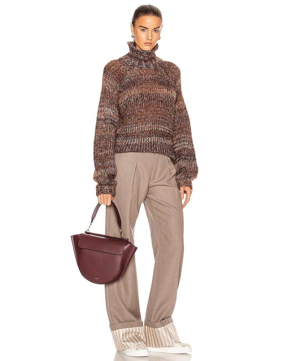 Image 2 of Wandler Medium Hortensia Leather Bag in Wine