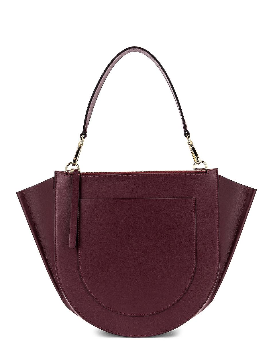 Image 3 of Wandler Medium Hortensia Leather Bag in Wine