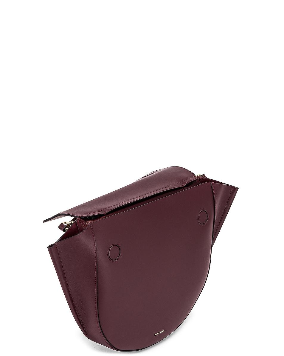 Image 5 of Wandler Medium Hortensia Leather Bag in Wine