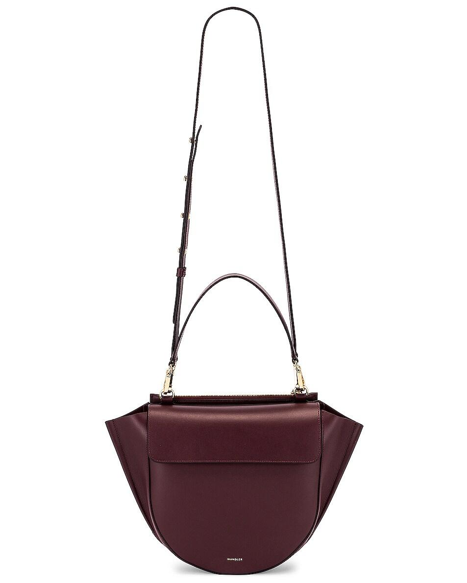 Image 6 of Wandler Medium Hortensia Leather Bag in Wine