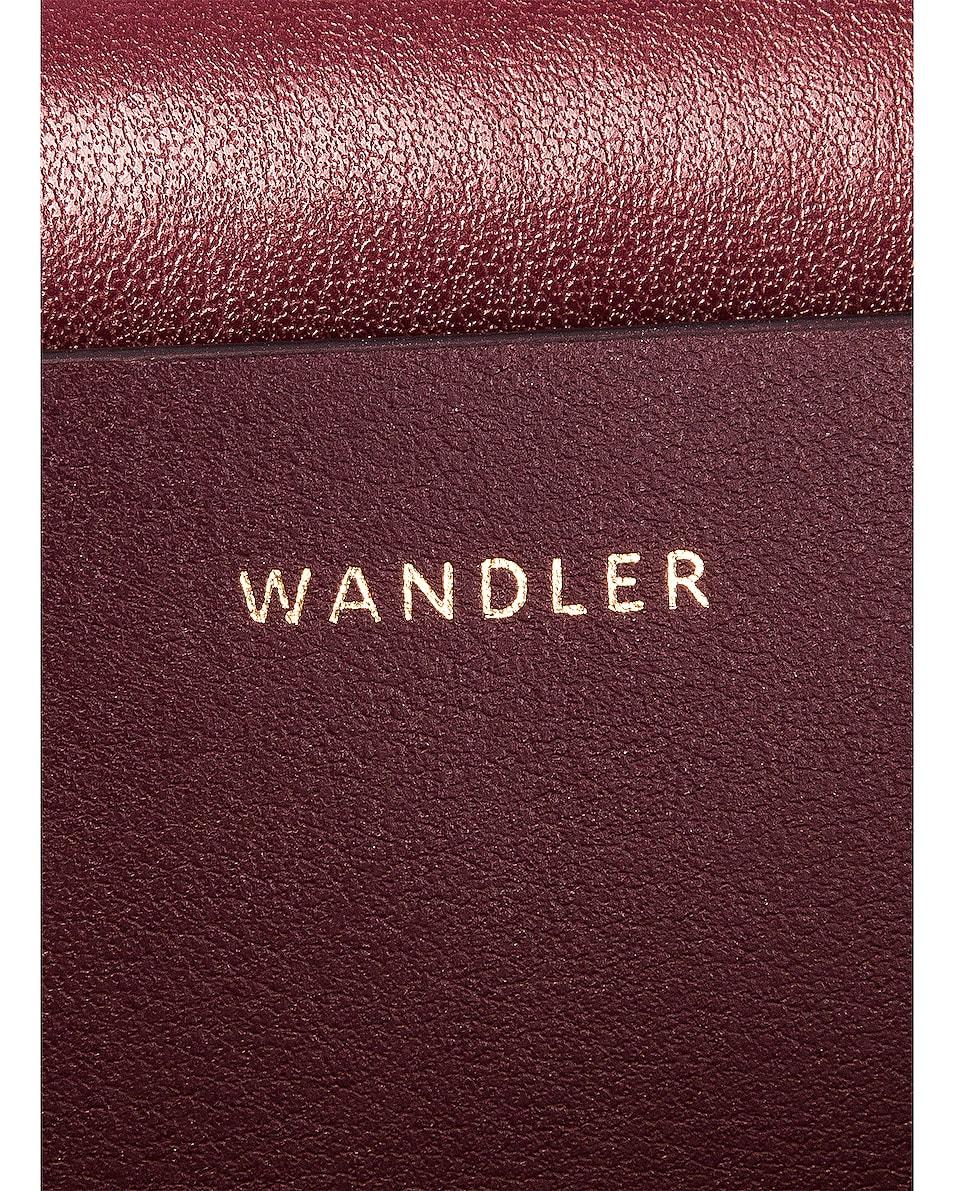 Image 7 of Wandler Medium Hortensia Leather Bag in Wine