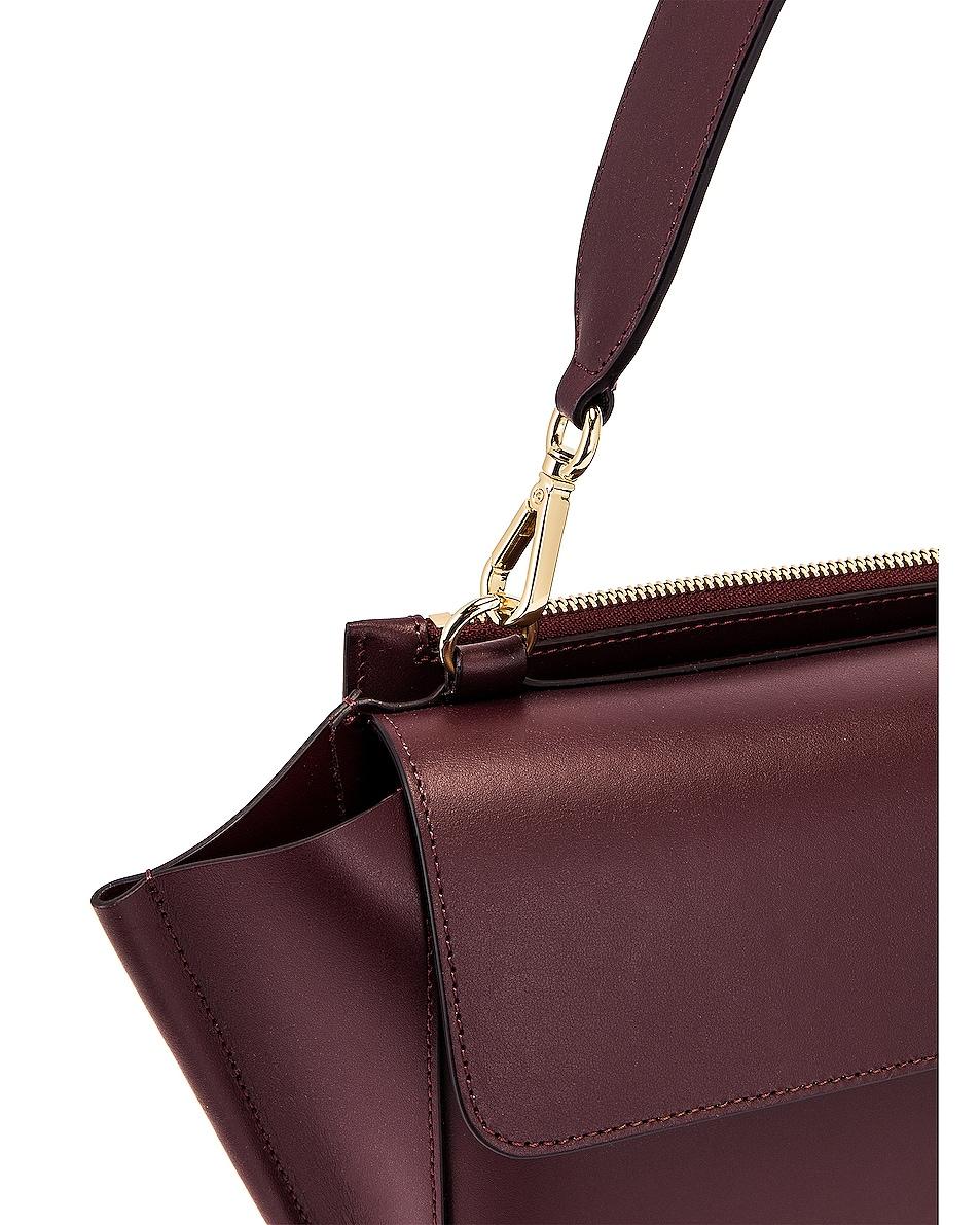 Image 8 of Wandler Medium Hortensia Leather Bag in Wine