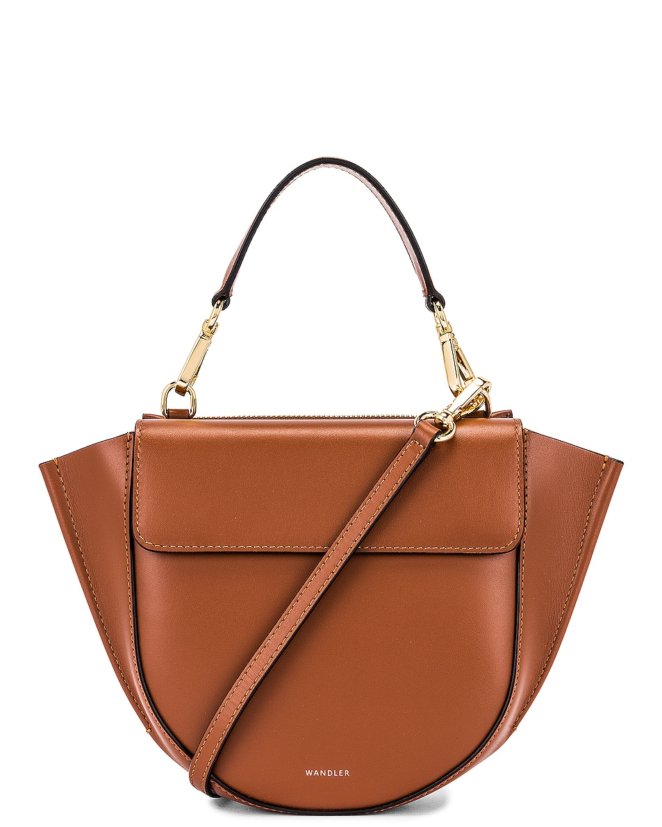 Image 1 of Wandler Mini Hortensia Leather Bag in Tan