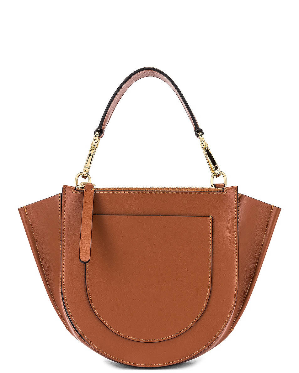 Image 3 of Wandler Mini Hortensia Leather Bag in Tan