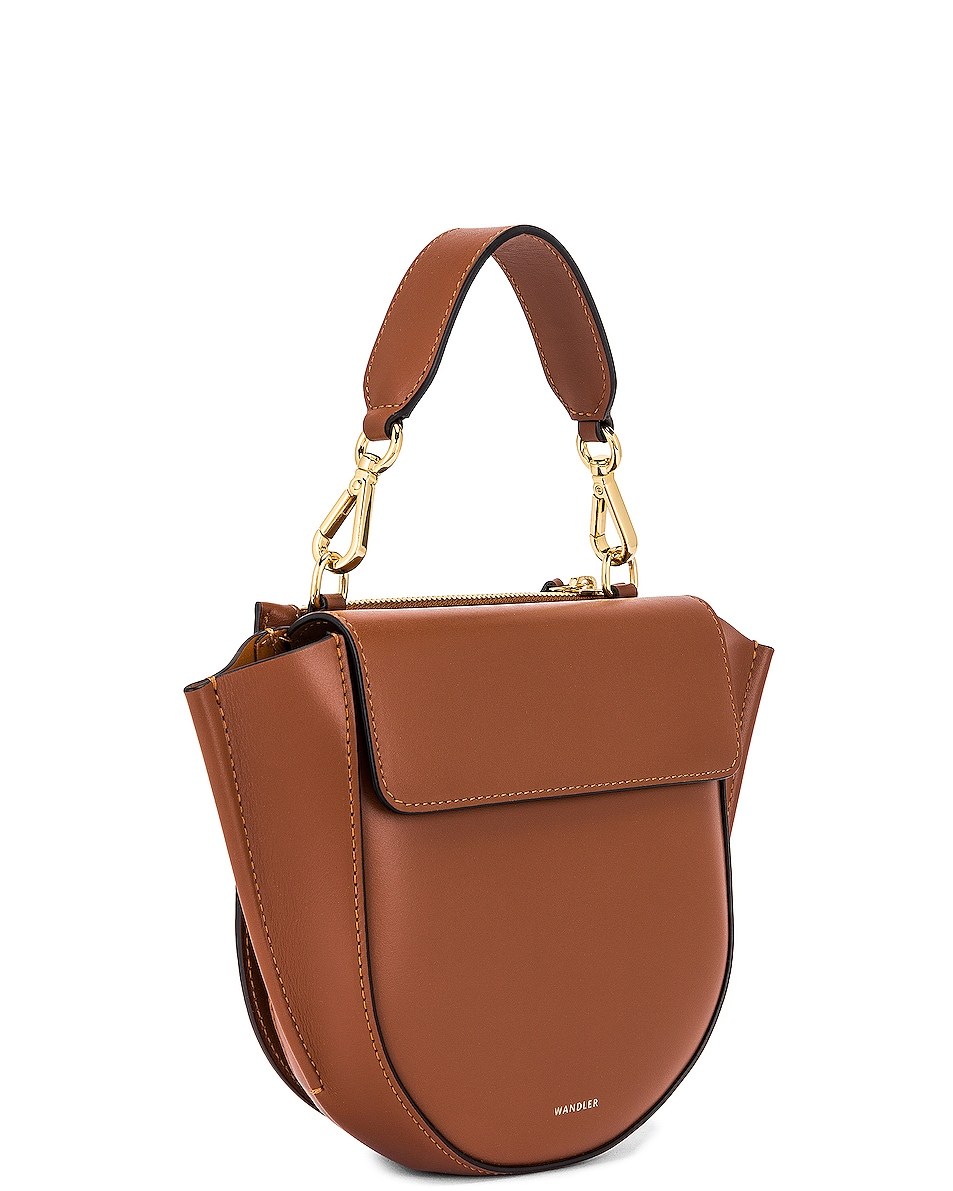 Image 4 of Wandler Mini Hortensia Leather Bag in Tan