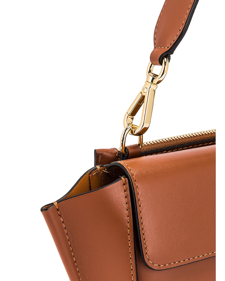 Image 8 of Wandler Mini Hortensia Leather Bag in Tan