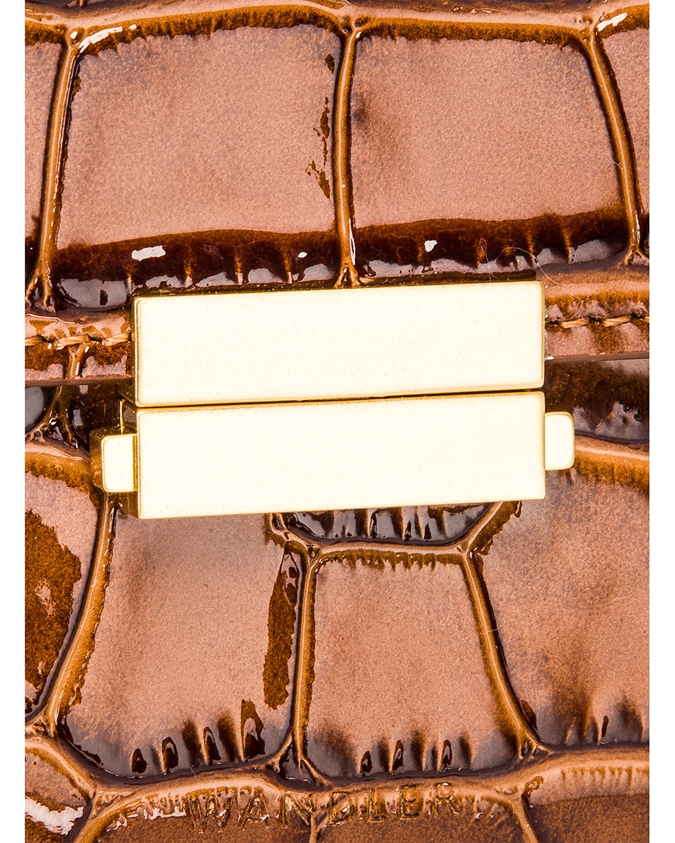 Image 7 of Wandler Big Anna Leather Belt Bag in Croco Toffee