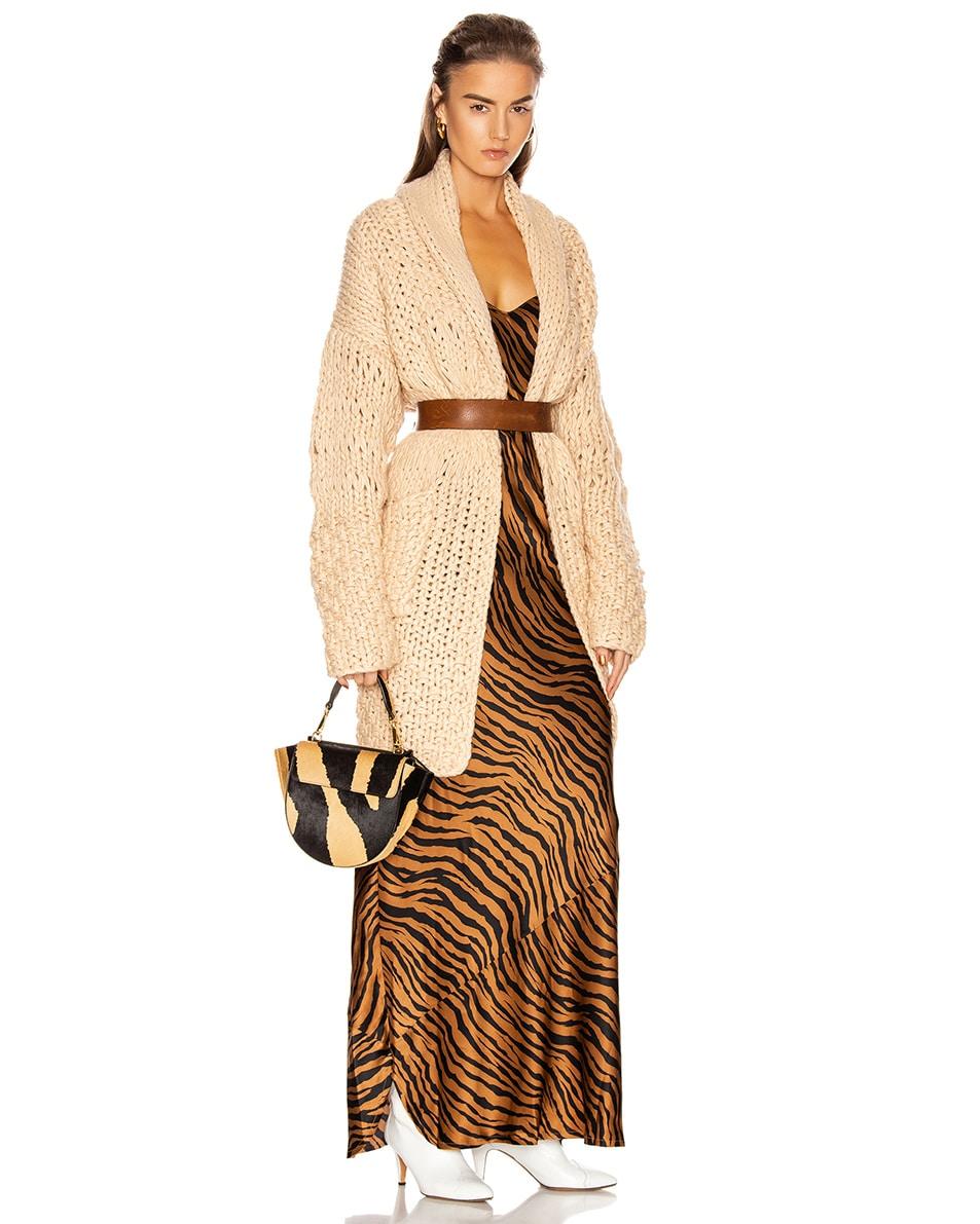 Image 2 of Wandler Mini Hortensia Leather Bag in Beige Zebra