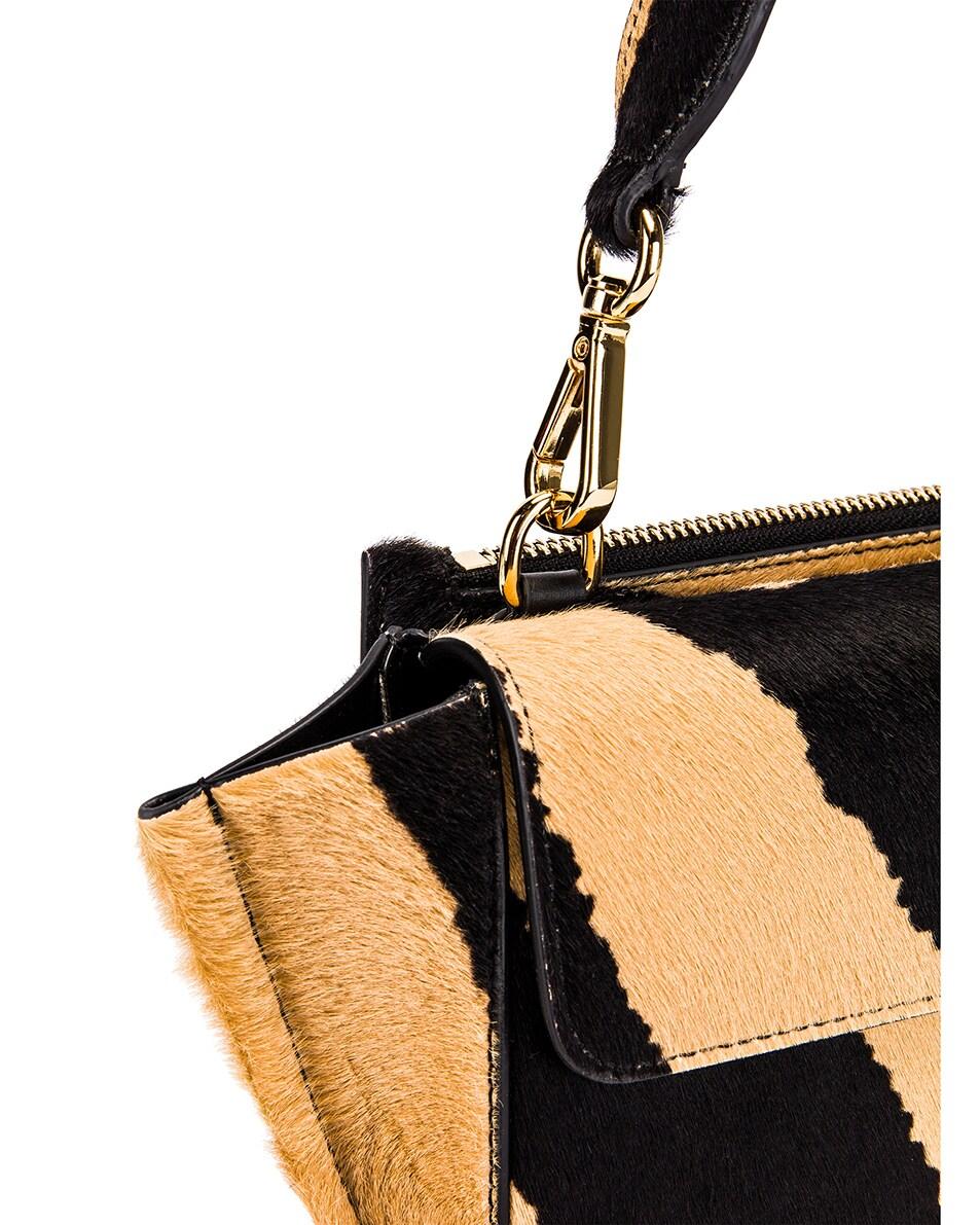 Image 8 of Wandler Mini Hortensia Leather Bag in Beige Zebra