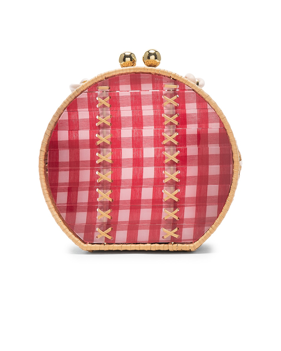Image 2 of Wai Wai Jabuticaba Gold Bag in Red Vichi