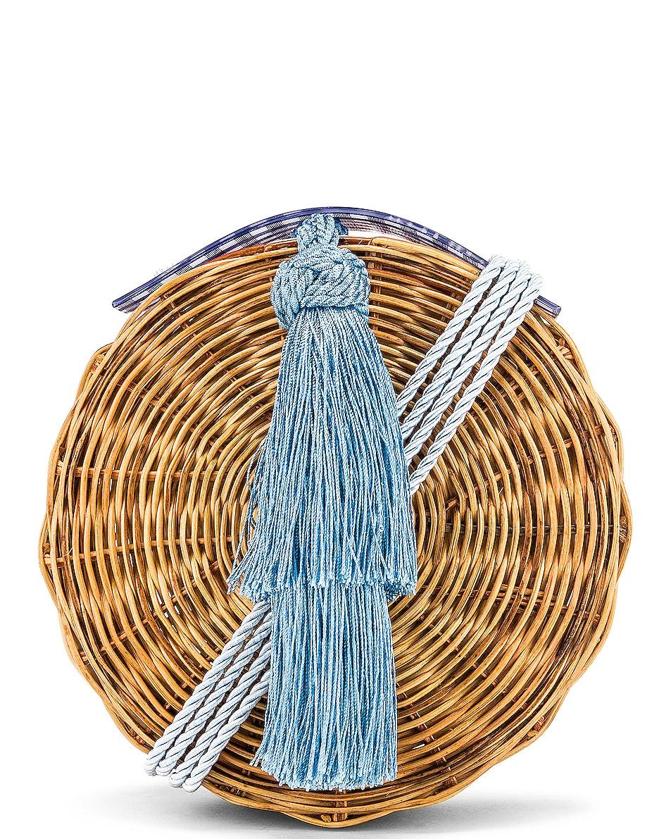 Image 1 of Wai Wai Petit Balaio Bag in Blue Vichi