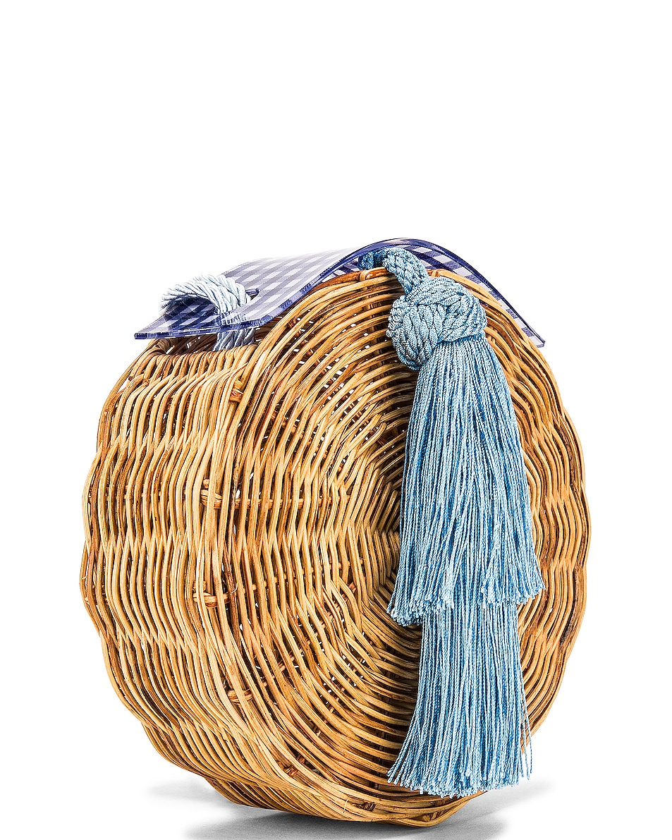 Image 4 of Wai Wai Petit Balaio Bag in Blue Vichi