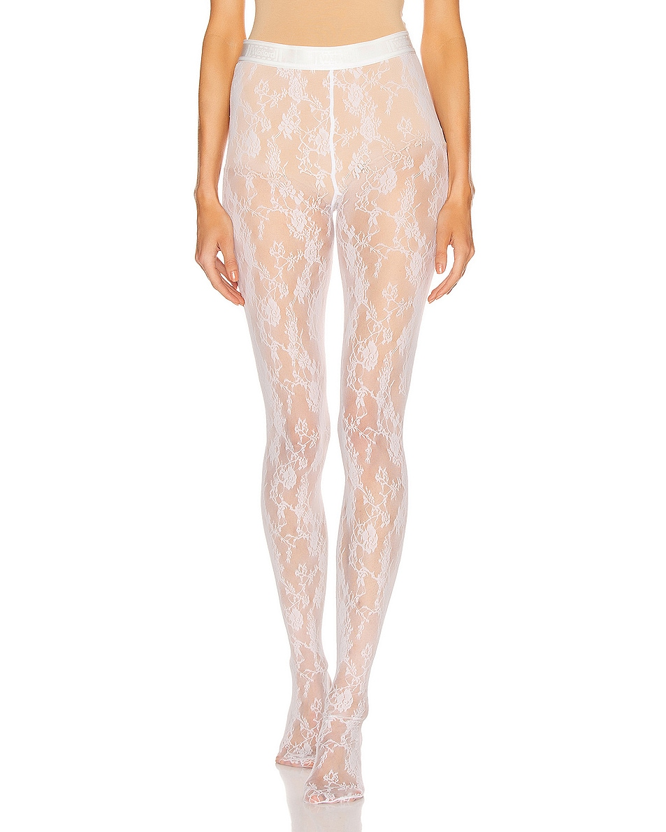 Image 1 of Wolford Katharina Tights in White