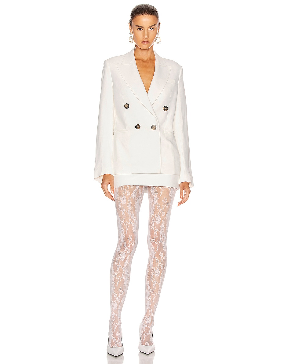Image 4 of Wolford Katharina Tights in White