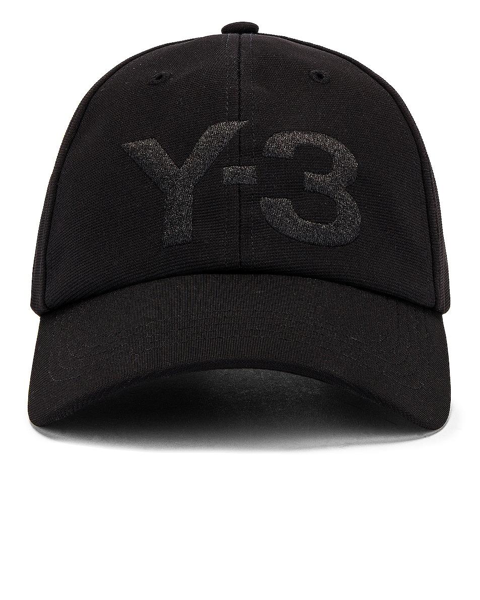 Image 1 of Y-3 Yohji Yamamoto Logo Cap in Black