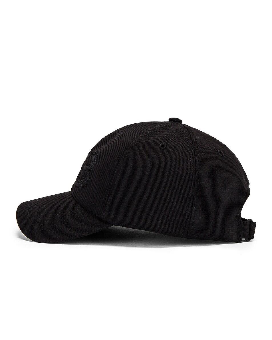 Image 3 of Y-3 Yohji Yamamoto Logo Cap in Black