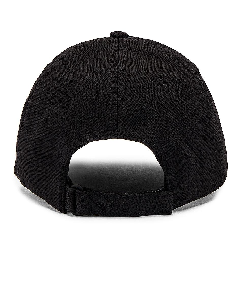 Image 4 of Y-3 Yohji Yamamoto Logo Cap in Black
